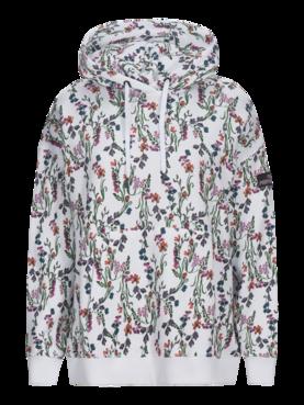 Peak Performance naisten huppari Season Cotton Blend Printed Hoodie  valkoinen - Naisten paidat ja hupparit - 99096fbfb7