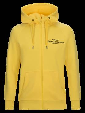 Peak Performance miesten hupparitakki Logo Cotton Blend Zip Up Hoodie  keltainen - Miesten takit ja puvut e650858242