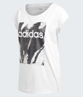 separation shoes a751a 4245f Adidas naisten t-paita Ess Aop Tee valkoinen - Naisten t-paidat ja topit