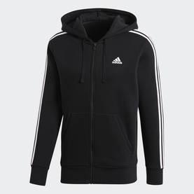 brand new a7839 00085 Adidas miesten hupparitakki ESS 3S FZ B musta valkoinen - Miesten takit ja  puvut -