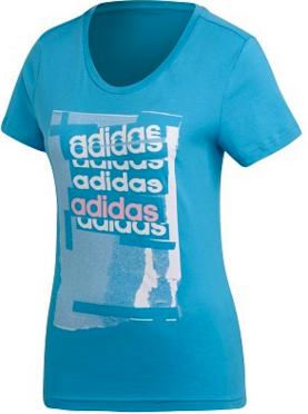 buy online f8629 b55e7 Adidas naisten t-paita Linear Tee sininen - Naisten t-paidat ja topit -
