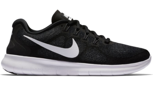 new style 444ab 00677 Nike juoksu vapaa-ajan kengät Free RN W 2017 musta tummanharmaa - Naisten