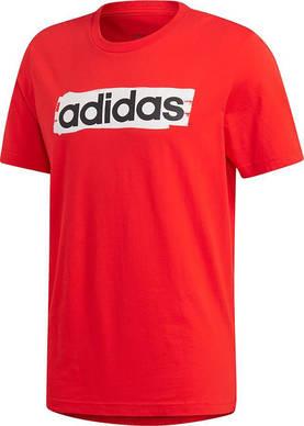 the best attitude 384be 9a51d Adidas miesten t-paita E Lin Brush Tee punainen - Miesten t-paidat -