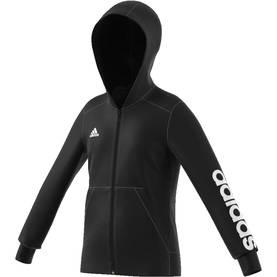 Adidas lasten hupparitakki YG Linear FZ musta valkoinen - Lasten takit ja  puvut - 40572882169 e961dff344